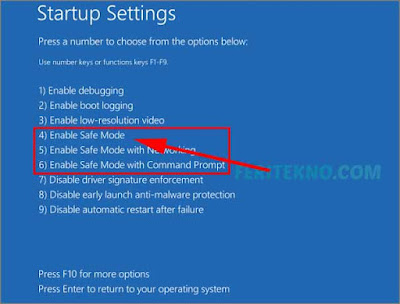 Cara masuk ke safe mode pada windows 10 10
