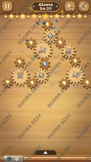 Fix it: Gear Puzzle [Gloves] Level 29 Solution, Cheats, Walkthrough for Android, iPhone, iPad and iPod