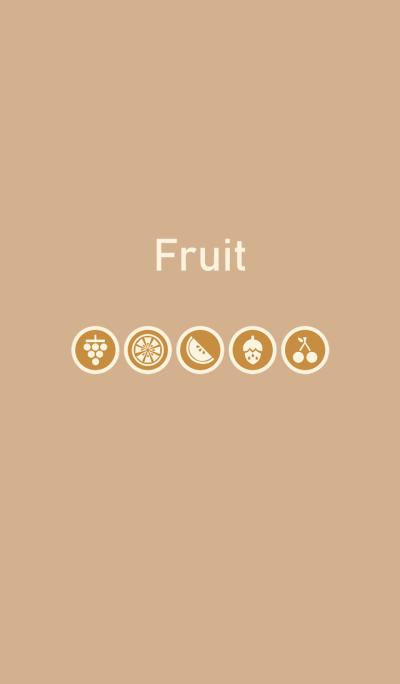 Simple fruit - cream brown