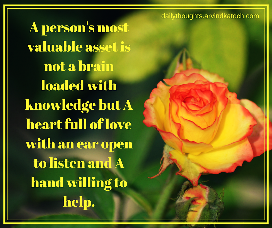 Daily Thought With Meaning A Person S Most Valuable Asset Best Daily Thoughts With Meanings
