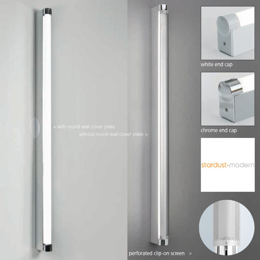 Basic Strip Bathroom Wall Light Silver White Artemide