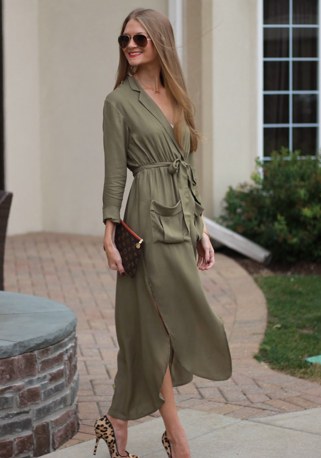 Sweets And Style Just Right Army Green Wrap Dress