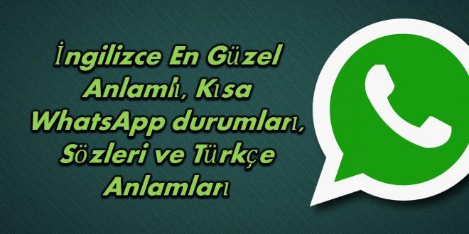 Ingilizce Whatsapp Durum Sözleri Orjinal Mesajlar