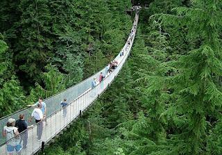 Capilano Suspension Bridge di Northern Vancouver, Kanada