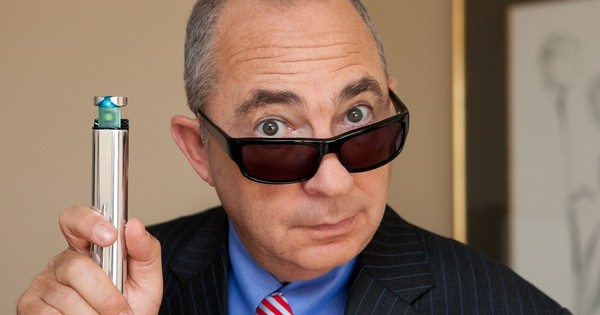 Barry Sonnenfeld, director of Men in Black I, II, III holding the neuralyzer