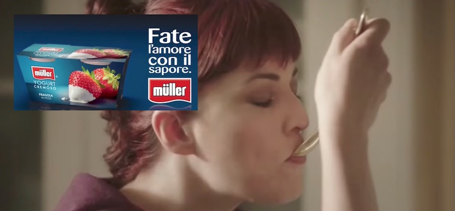 Canzone Muller Pubblicità fate l'amore (disperato) con il sapore, Spot Settembre 2017