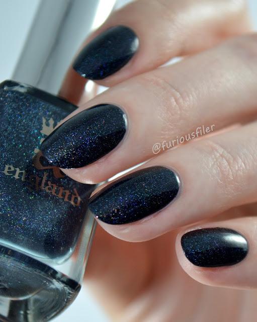 galaxy holographic natasha's dance a england nail polish