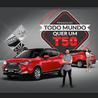 Promoção JAC - Todo mundo quer um T50. Blog Top da Promoção #topdapromocao @topdapromocao