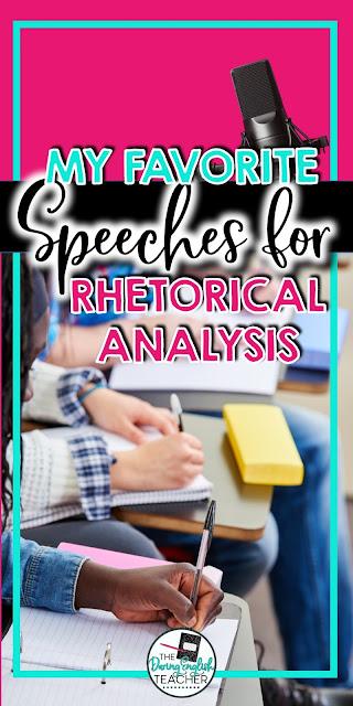 My Favorite Speeches for Rhetorical Analysis