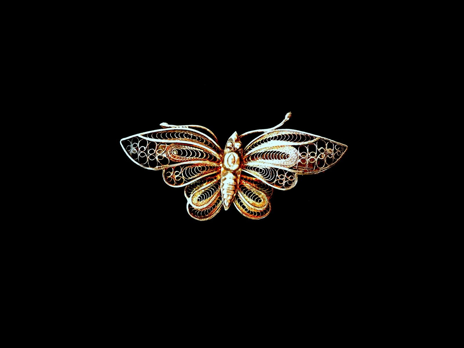 5317211d0c9b9 VirgoTraders Jewelry Blog: Antique Silver Filigree Butterfly Brooch