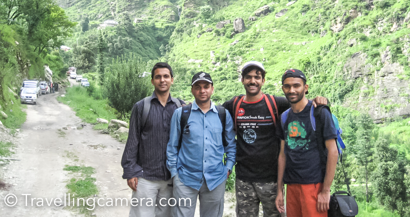 It was 2008, my room-mate started planning a trek with his brother and brother-in-law. I was not very sure if I want to commit myself to a difficult trek like Shrikhand, so I was passively involved in his planning. Every evening Vikas had new thing to discuss – camping, tents, food, backpacks, what to pack, how to keep the luggage light, rain-suites etc. I was mostly sharing the gyan with him. After few days, I realized that plan is to do this trek during upcoming long weekend. I was tempted as I had to take only 2 extra leaves :).This trek was planned for 3 days and we ended up taking 5 days. There is a long story behind that which is shared in this post.This trekking experience means a lot to me. Such experiences teach you a lot and you know your friends in much better way. And at times, make good friends for life. Vikas has always been a good friend and after this trek I never had any doubts about sharing anything with him. More than that his brother Vishal and Bro-in-law Narender Jijaji are good friends. Those 5 days in hills really changed my perspective. Each of us went through various emotional stages during the trek and others were there to support. Some of us with down physically at different times and our parents were not there to take care of us. All these ups and downs in 5 days brought us close. I clearly remember, I was least interested in planning things for this trek. All planning, shopping, travel arrangements, finding porter, what to eat was decided and arranged by these folks.While writing this I finding it hard to pen down those emotions :). Btw, none of us took bath for 4 days on the trek and frankly we didn't even feel like it. Everyday rains used to wash our bodies and cloths and the chill made us more comfortable in 4 layers of cloths. I clearly remember the last day when we came down to the base and 3 of us took a dip in chilled water of a stream coming out of one of the glaciers.All photographs here are those which I never wanted to share publicly :) . They my not be very inspiring but that was true experience and that's how we used to look 8 years back :)Today the upcoming show made me write about this. You must have seen promos of Yaroon ki Baraat  on Zee, espcially the one where Amitabha Bachhan says that Shatrughan Sinha is the better actor amongst both of them and Shatru says 'I would agree if he himself says this' with an awesome smile on his face.Since 2008, we made dozens of attempts to do another trek together but 4 of us couldn't plan it. We keep meeting within the city and going with routine things. Travel has been happening for all of us, but we still hope to do another good trek together. We may soon plan Choordhar trek, so stay tuned for the same :