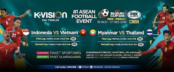 Saksikan Pertandingan Semifinal AFF 2016 di K-VISION
