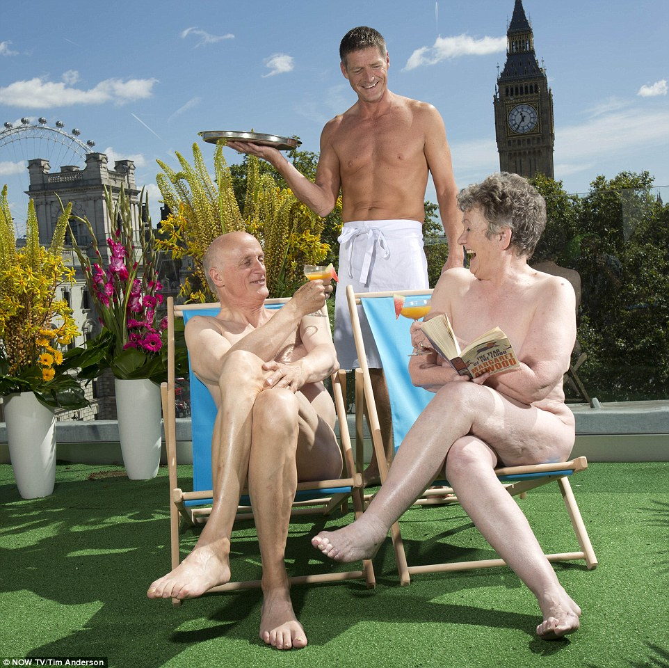 It seems the terrace is part of an emerging nudist craze that is is sweeping the capital – opening just a few weeks after London's first naked restaurant.