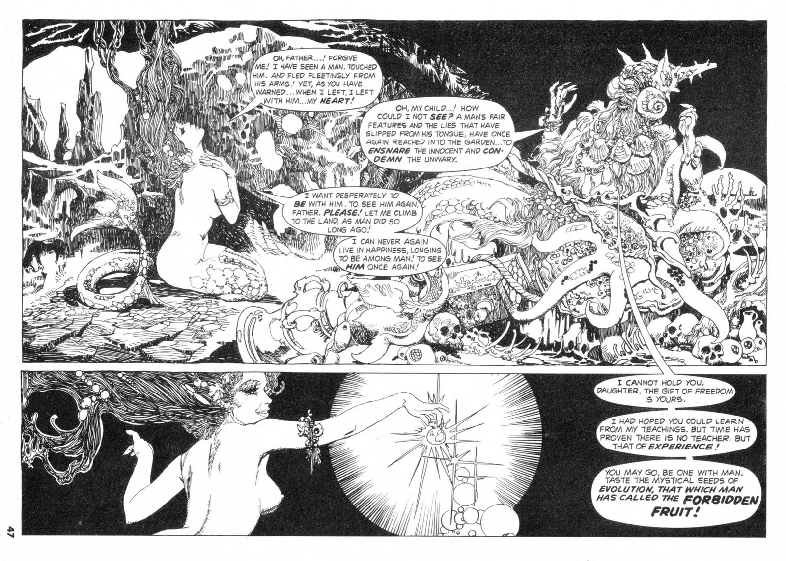 683f36983 All of the Spanish artists employed by the Warren magazines during the 70s  were skilled draftsmen. Esteban Maroto's pen-and-ink work, in particular,  ...