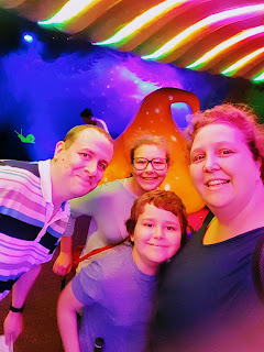 Family Fun under a Giant Mushroom at Mr Mulligans Lost World indoor golf Milton Keynes