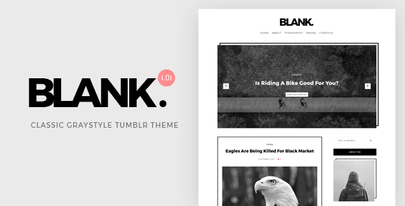 Templale Blank | Gray-style Classic Tumblr Theme Blogging