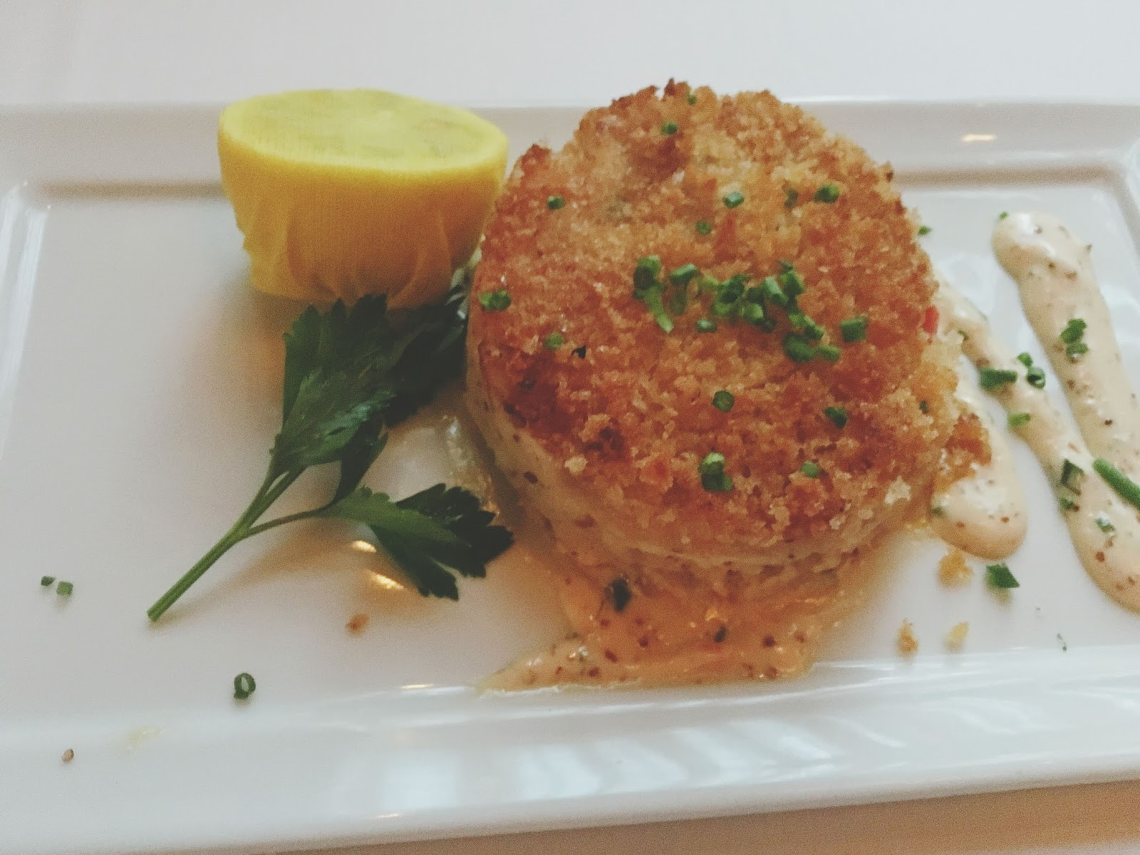crab cake at Eddie V's - A restaurant in Houston, Texas