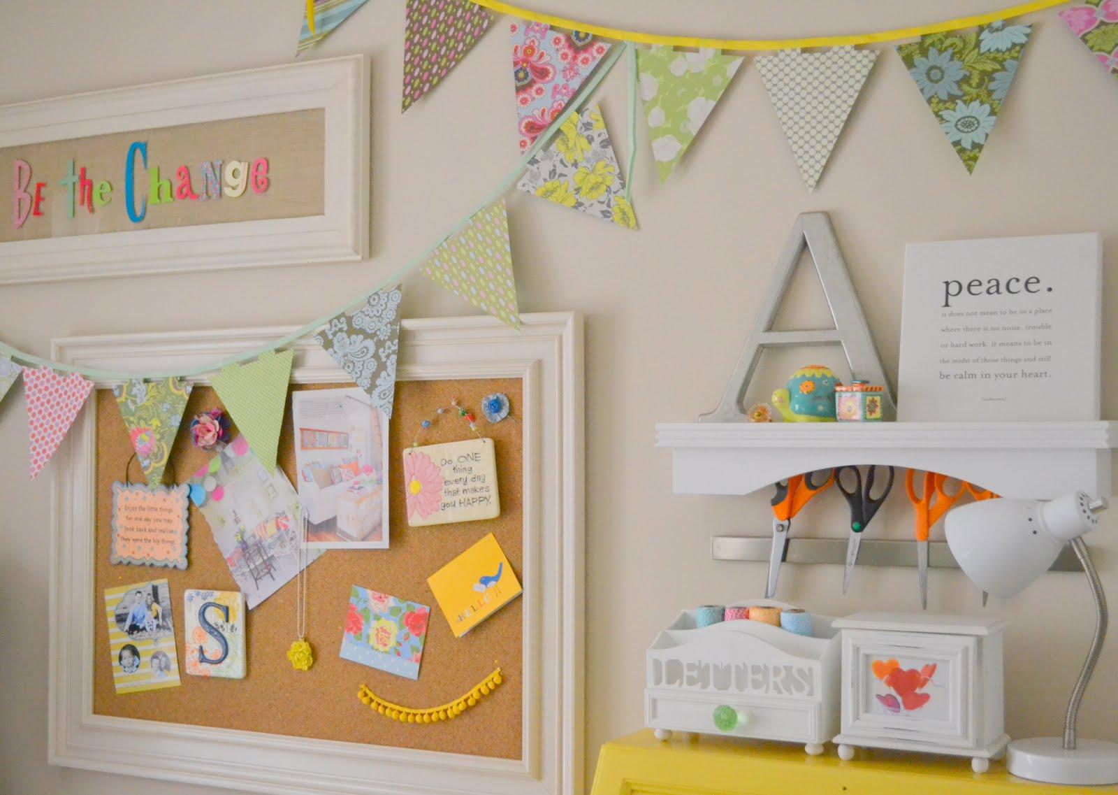 Whimsical Craft Room Decor