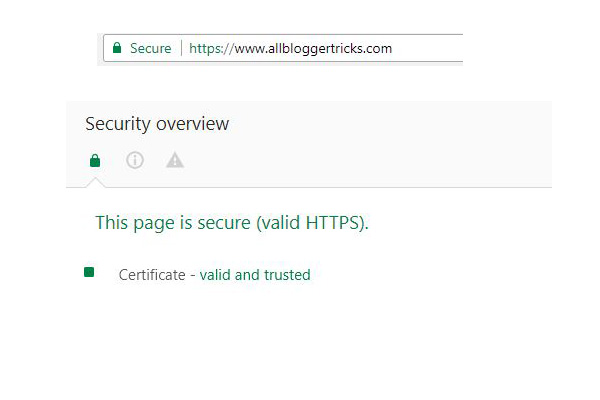 Blogger now allows custom domains to use SSL Certificate! (HTTPS)