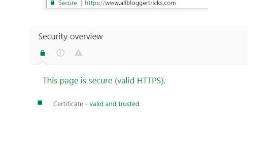 Blogger Allows Custom domains to use SSL Certificate! HTTPS 2018