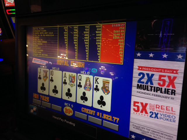 downtown grand hand pay jackpot royal flush
