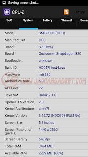 Samsung Galaxy S7 HDC Ultra CPUZ 1