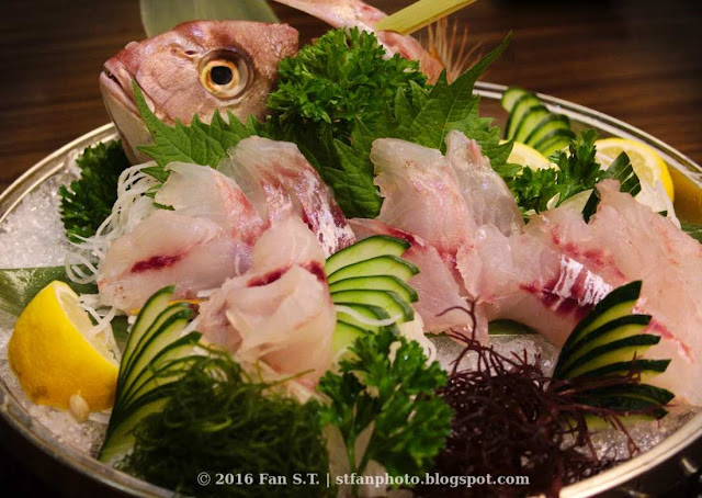 Air flown kodai fish sashimi from Ichiban Boshi Japanese resturaunt