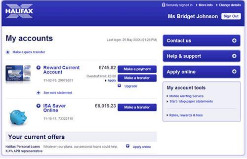 open bank account online halifax