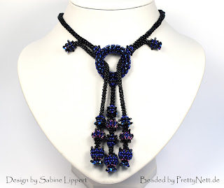 "Necklace ""So Charming"" - beaded by PrettyNett.de"