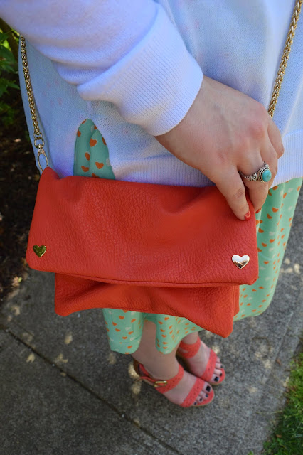 Sequins and Skulls: Coral Hearts