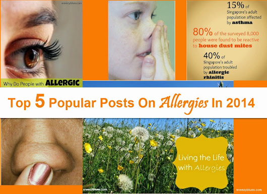 Top 5 Popular Posts On Allergies In 2014