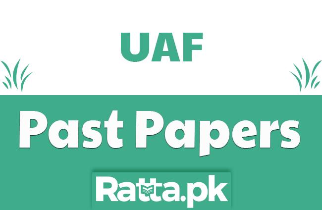 UAF Entry Test Past Papers 2018 pdf Download