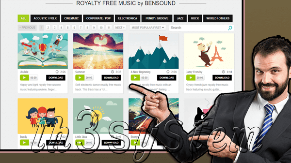 New website and wonderful musical backgrounds to download videos without registering