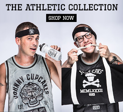 The Johnny Cupcakes Athletic Collection - Reversible Jersey, Duffle Bag, Water Bottle & Headband