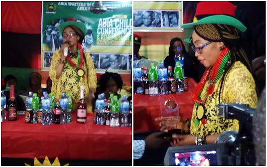 Nnamdi Kanu's wife attends Biafra remembrance event in Abia
