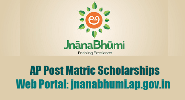 JnanaBhumi AP Post Matric Scholarships, JnanaBhumi Web Portal, jnanabhumi.ap.gov.in (land of knowledge)
