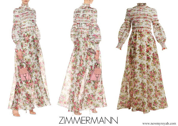 Crown Princess Mette Marit wore Zimmermann Radiate linen and silk gown