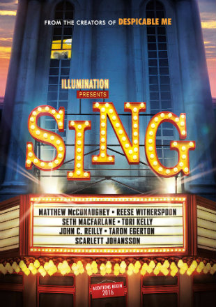 Poster of Sing 2016 Full Movie HDTS 720p English x264 1Gb at worldfree4u