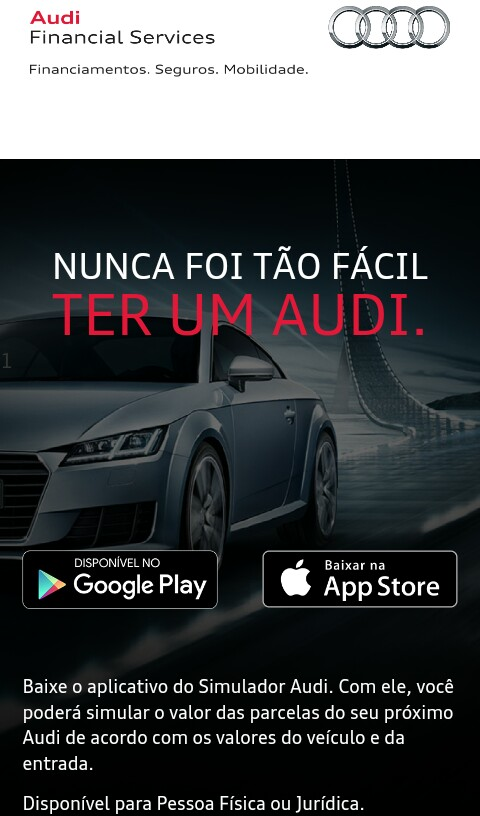 Audi Pass: uma forma inteligente de ser cliente Premium e adquirir seu Audi 0km