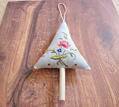 shabby chic christmas tree ornament boho rustic domum vindemia embroidered reed diffuser scented