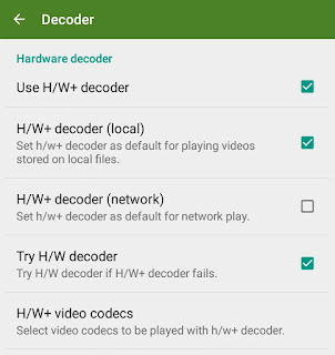 Enable H/W Decoder