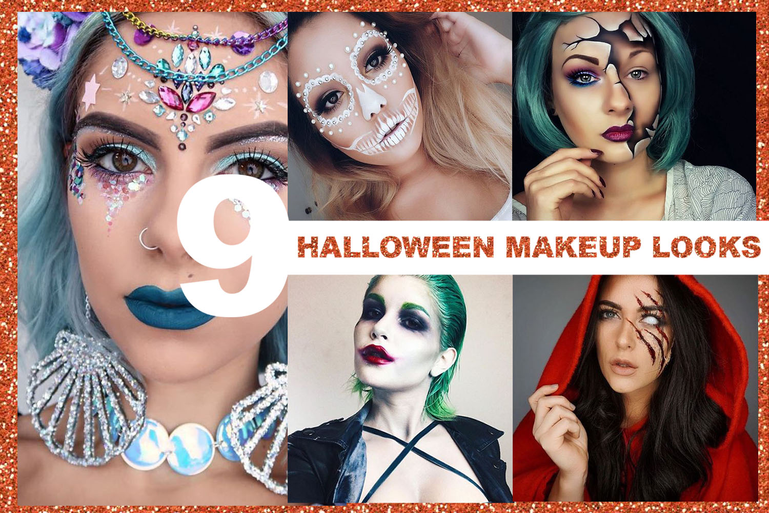 9 UNIQUE HALLOWEEN MAKEUP LOOKS | Styled by Charlie