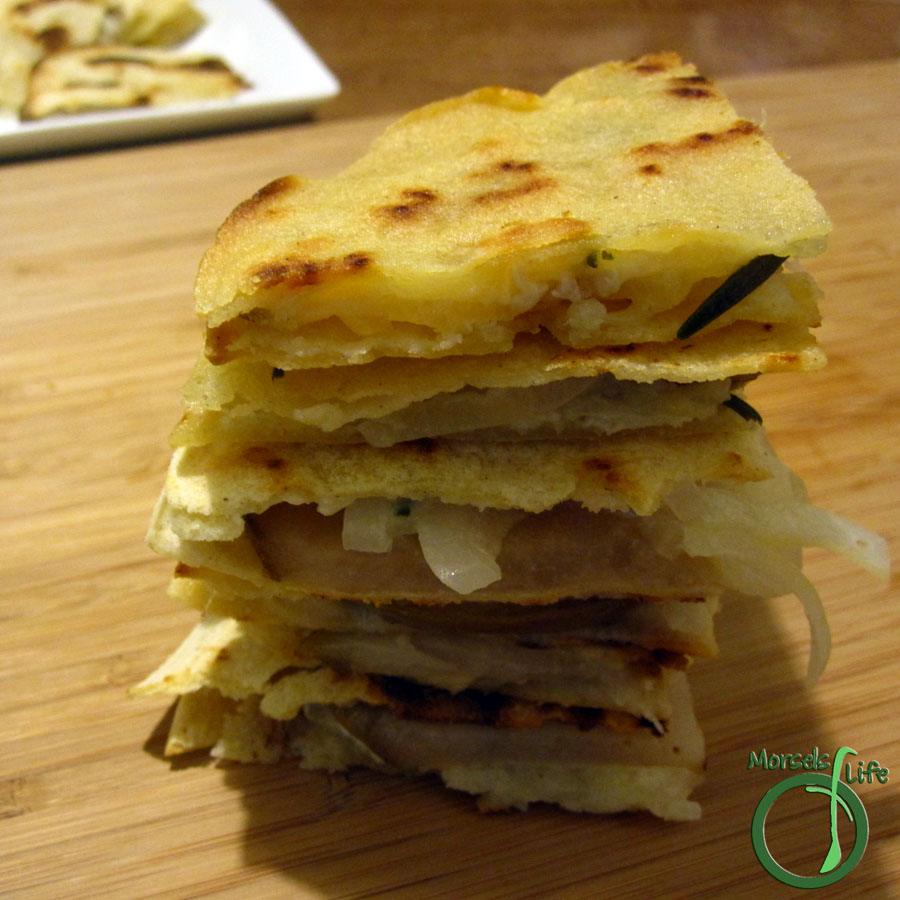 Morsels of Life - Pear Brie Quesadillas - Combine pear and Brie cheese with a bit of rosemary for a more