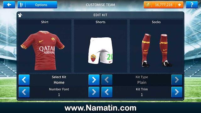 kit dream league soccer as roma