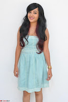 Sahana New cute Telugu Actress in Sky Blue Small Sleeveless Dress ~  Exclusive Galleries 011.jpg
