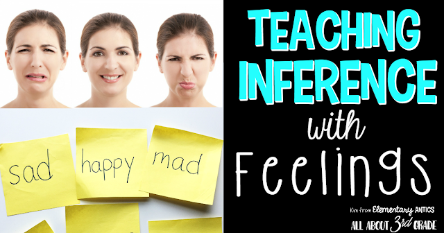 Teach inferential thinking using feelings to introduce your students to inferring in the text.