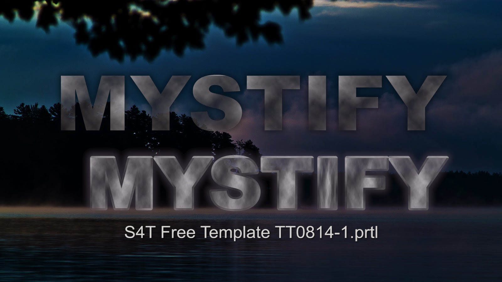 Style4type Free S4t Title Template Plus Texture Mystify