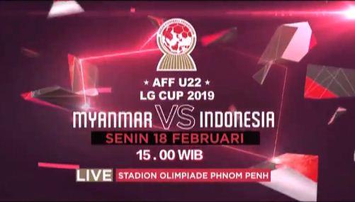 Jadwal Myanmar vs Indonesia Piala AFF U-22 Siaran Langsung RCTI