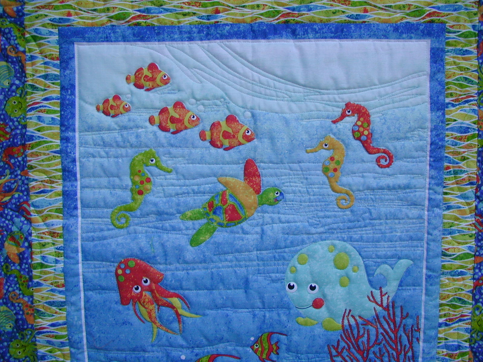 Moonbear Longarm Quilting: Pam and Beckie : under the sea quilt - Adamdwight.com