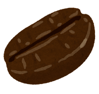 コーヒー豆のイラスト(フレンチロースト)